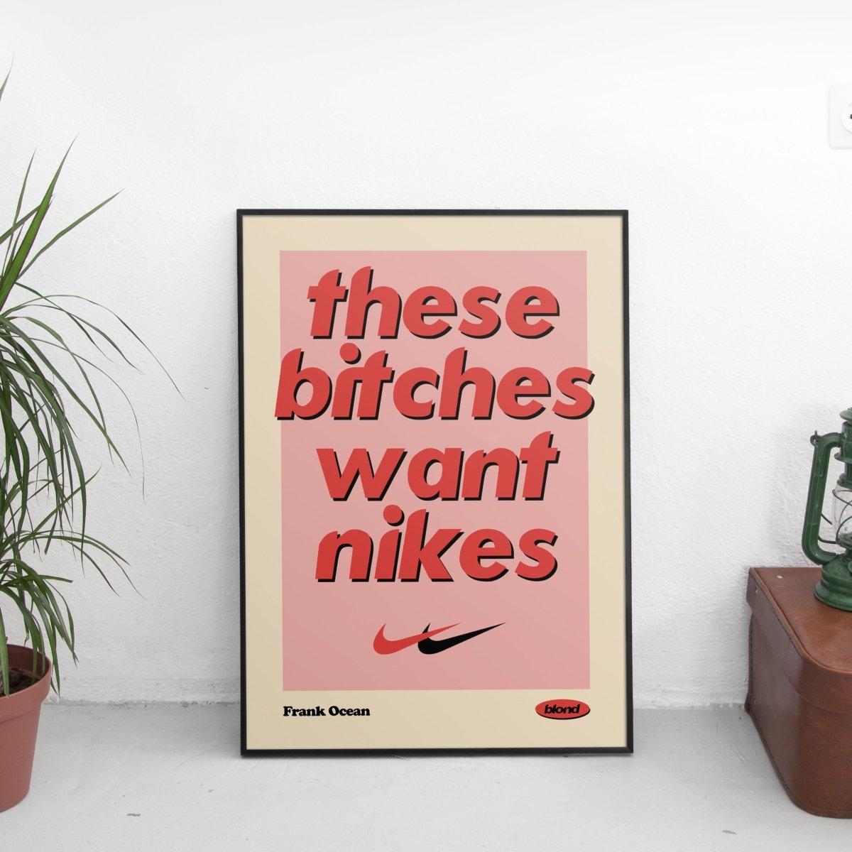 Frank Ocean - Nikes Lyrics Vintage Poster