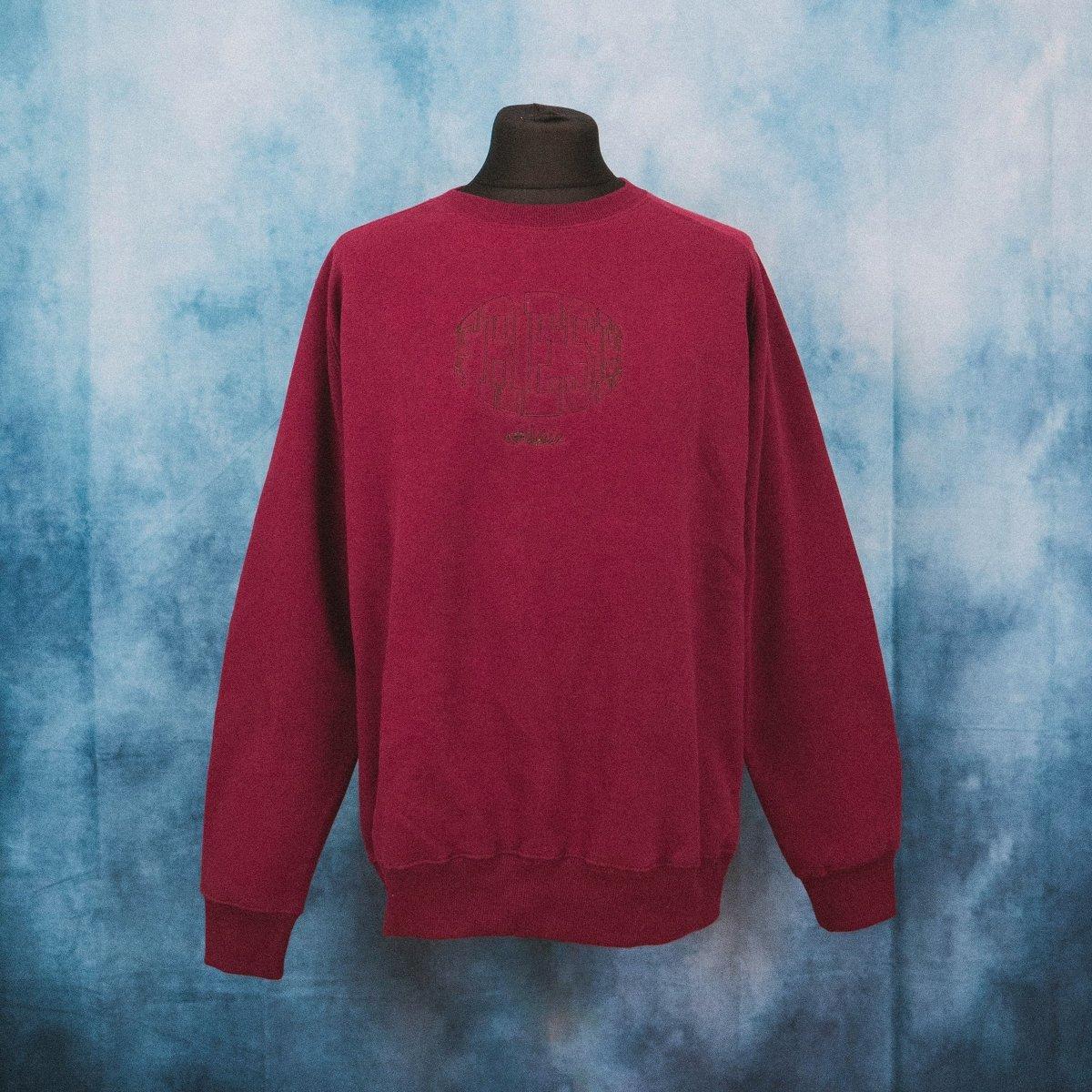Fresh Athletic Burgundy Unisex Embroidered Heavy Sweater