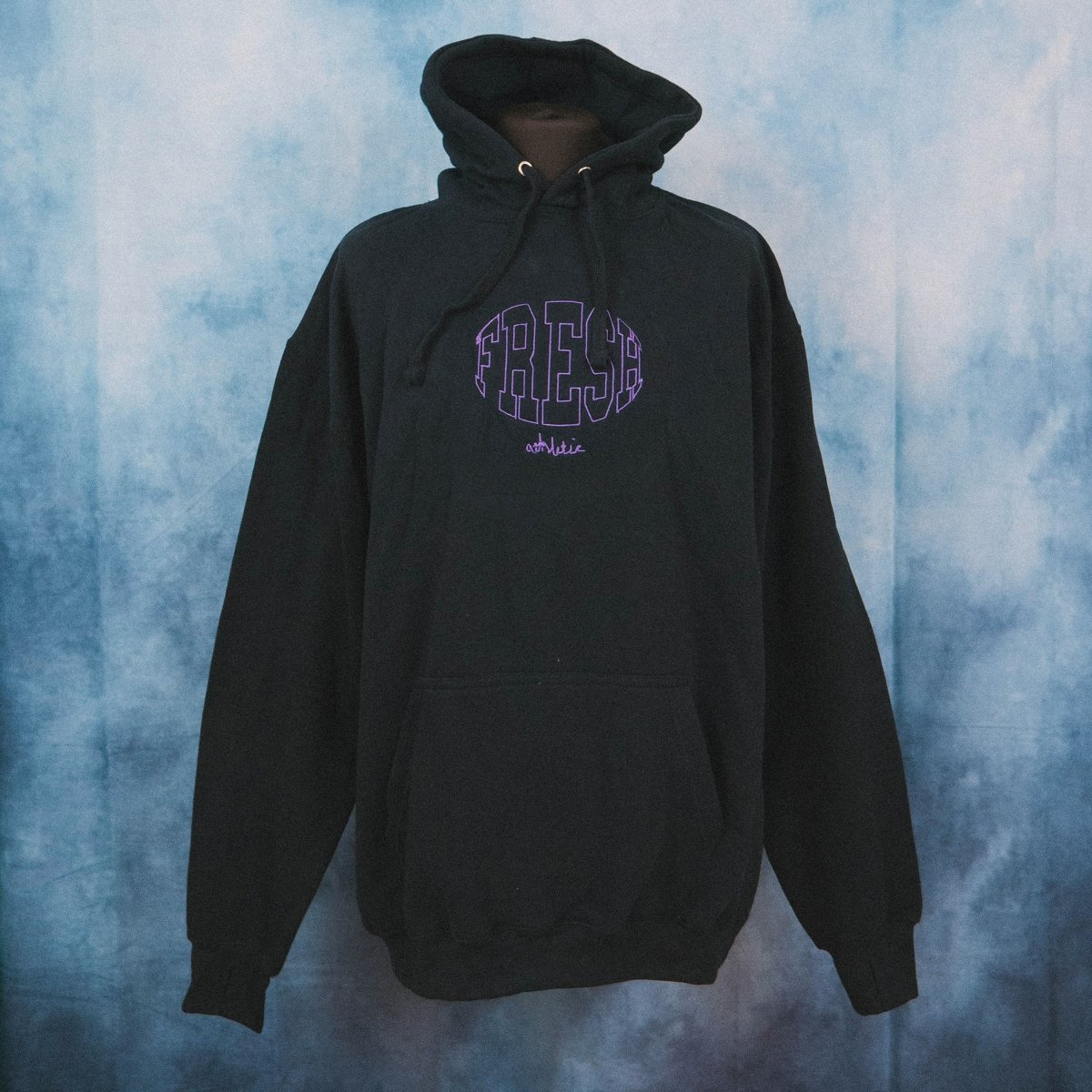 Fresh Athletic Navy Unisex Embroidered Heavy Hoodie