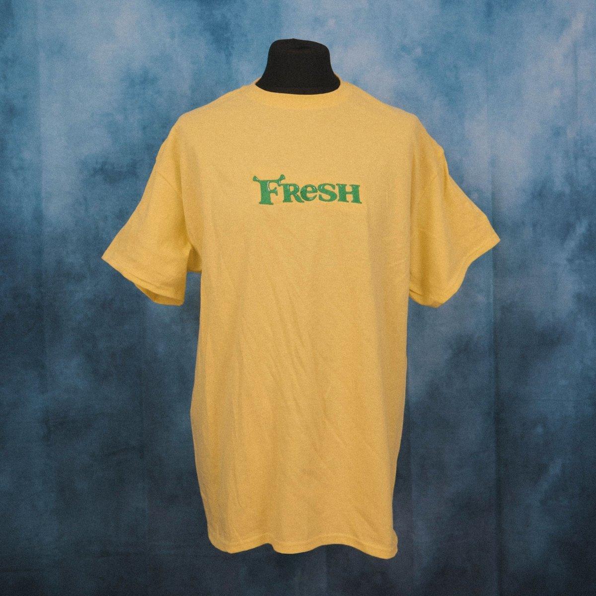 Fresh Swamp Light Yellow Unisex Embroidered T-Shirt