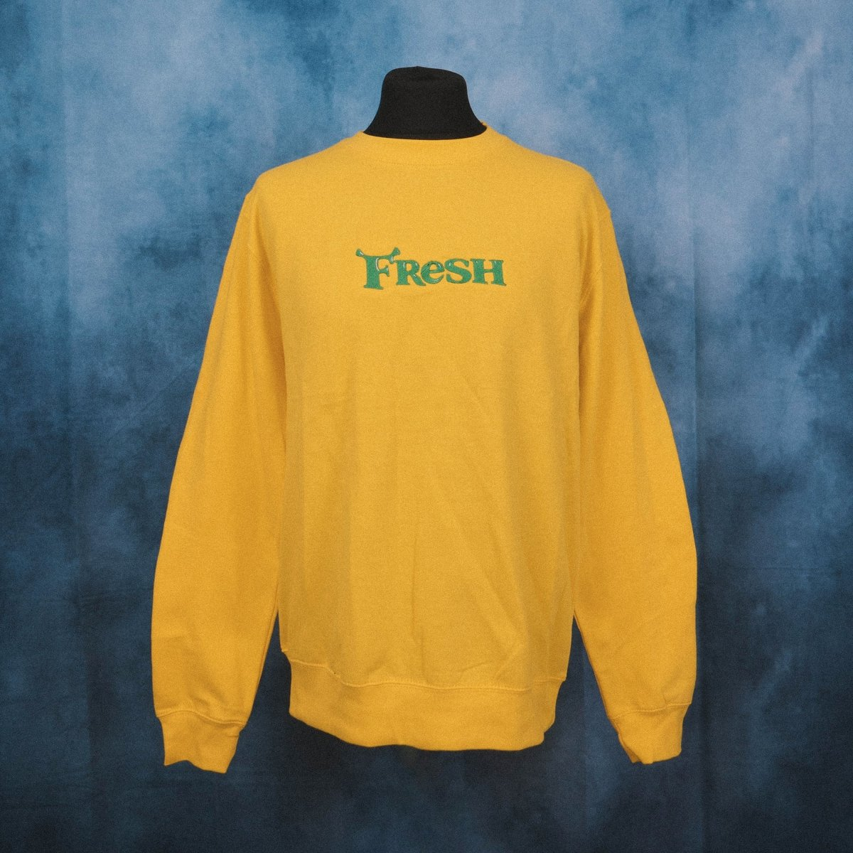 Fresh Swamp Yellow Unisex Embroidered Sweater