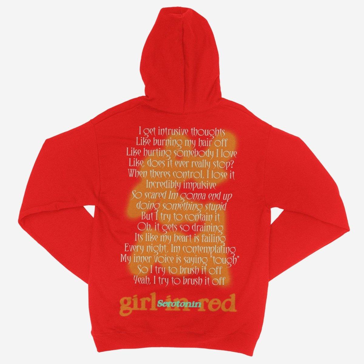 girl in red - Serotonin Red Unisex Hoodie