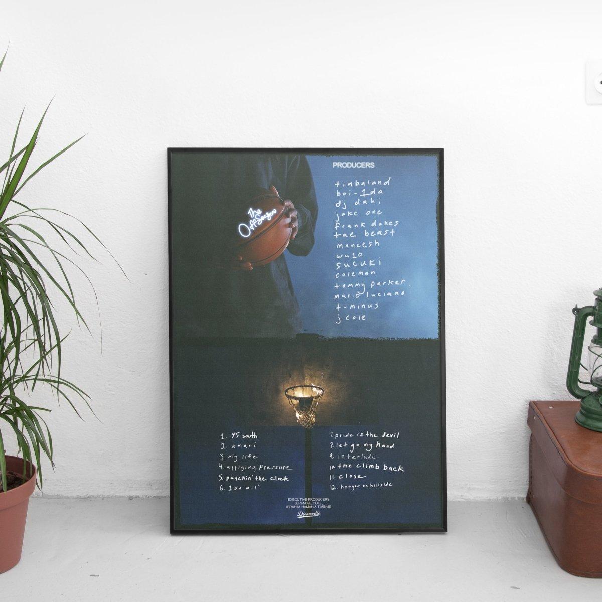 J Cole - The Off-Season Tracklist & Credits Poster