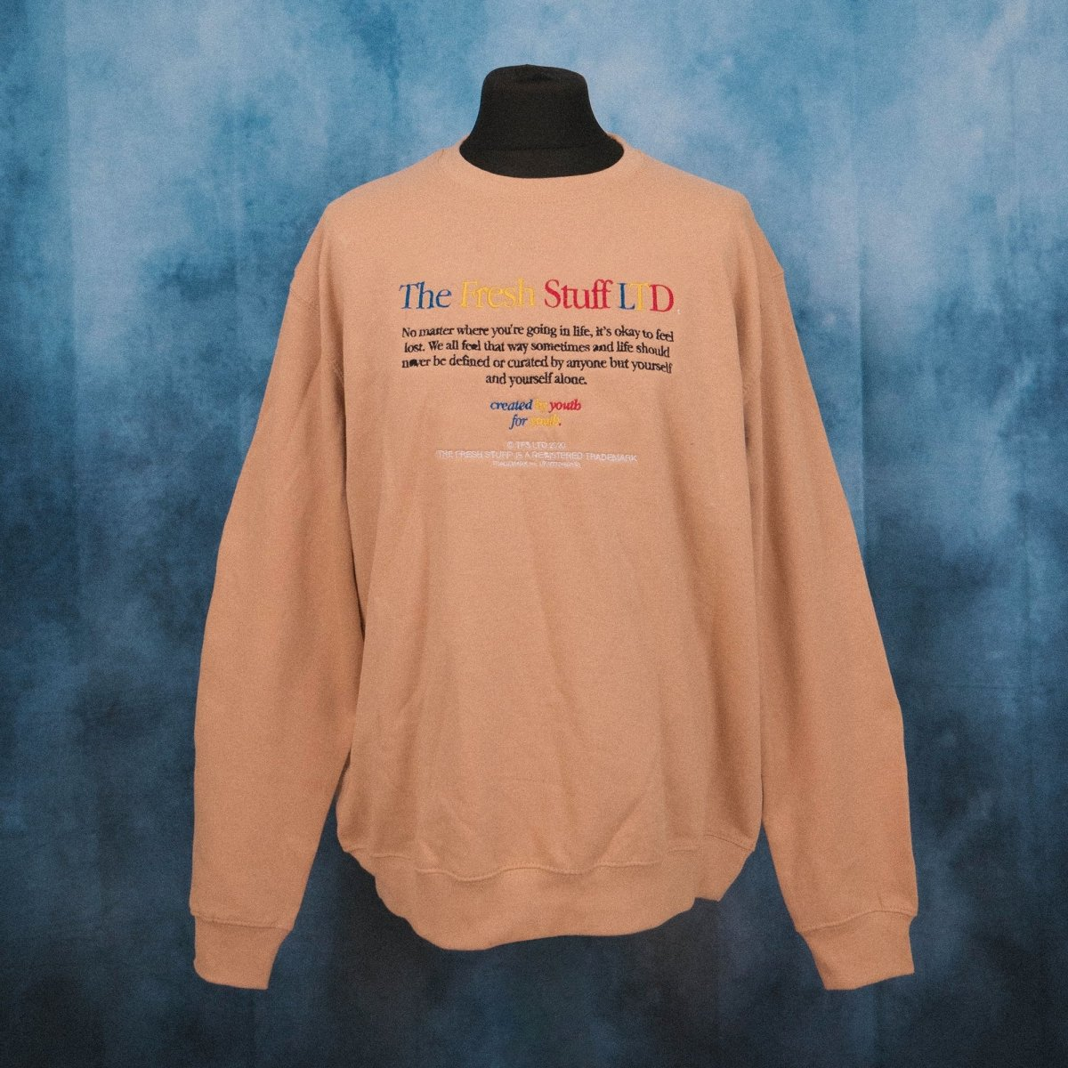 No Matter Where... Beige Unisex Embroidered Sweater