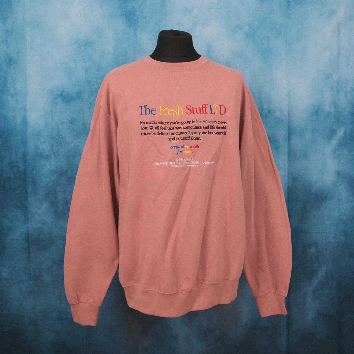No Matter Where... Dusty Pink Unisex Embroidered Sweater