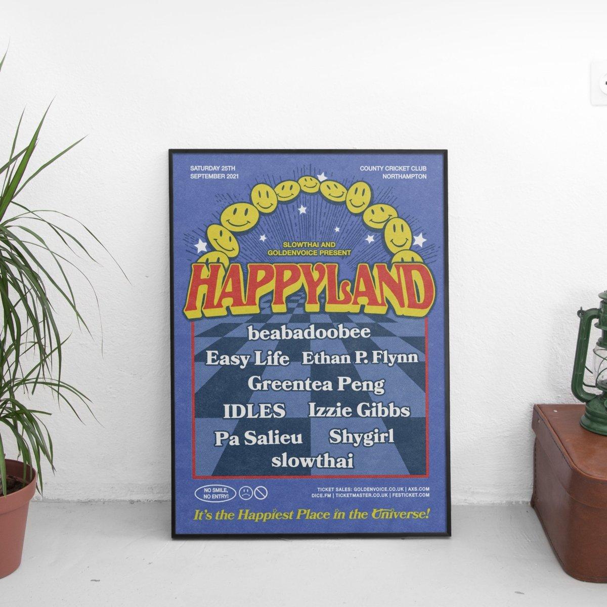 Slowthai - Happyland Tour Poster