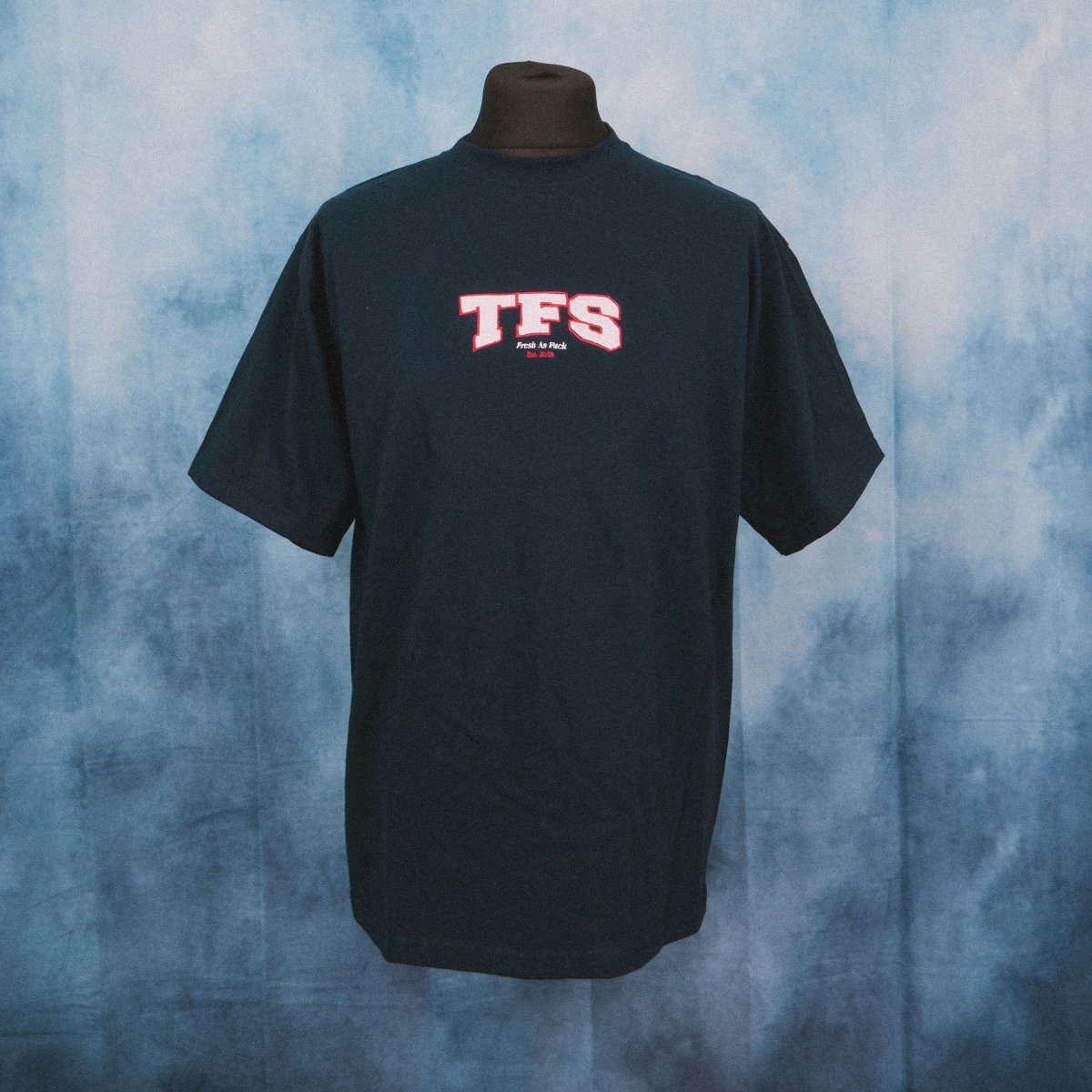 TFS College Navy Unisex Embroidered Heavy T-Shirt